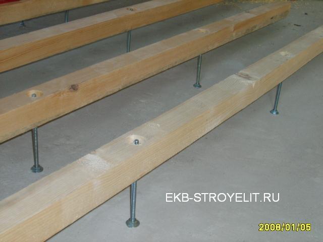 как уложить деревянный пол